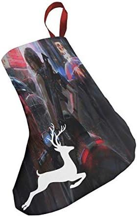 クリスマスの日の靴下 (ソックス3個)クリスマスデコレーションソックス 今後の戦争 クリスマス、ハロウィン 家庭用、ショッピングモール用、お祝いの雰囲気を加える 人気を高める、販売、プロモーション、年次式