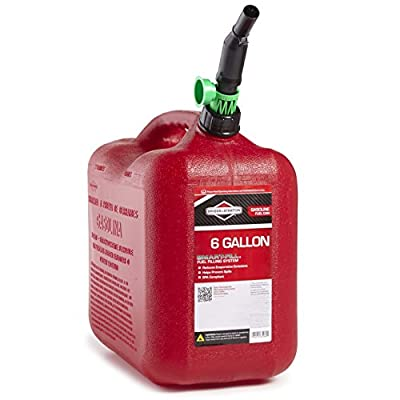 Briggs & Stratton 85060 6-Gallon Auto Shut Off Gas Can by Briggs & Stratton
