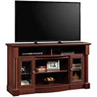 Sauder 419117 Entertainment Center, Credenza Fireplace, Select Cherry