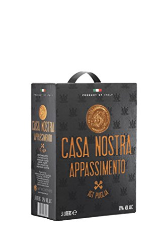 Dineart Cassa Nostra Appassimento Rosso Italien Rotwein Bag in Box Cuvée Trocken (1 x 3 l)