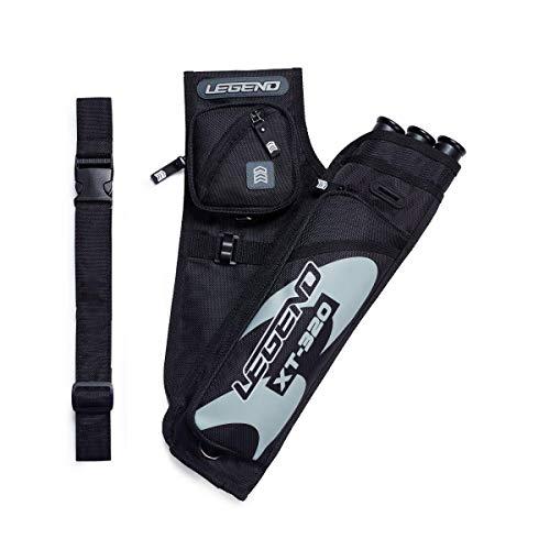 Legend Archery Hip Target Quiver 3-Tube Multi-Pocket Arrow Holder Lightweight and Functional XT320
