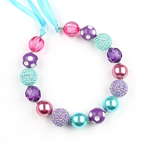 Price comparison product image Wxbox Girls Chunky Bubblegum Beaded Necklace Gifts 8#