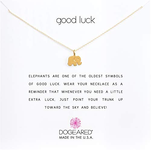 Necklace Wish A Make Dogeared (Dogeared Women's Good Luck Elephant Reminder Necklace Gold Dipped One Size)