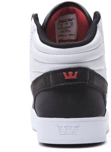 Supra, Sneaker uomo (Black/White/White)