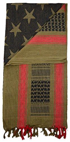 [STARS/STRIPES Shemagh Military Keffiyeh Scarf 100% Cotton Head Wrap] (Arab Money Costume)
