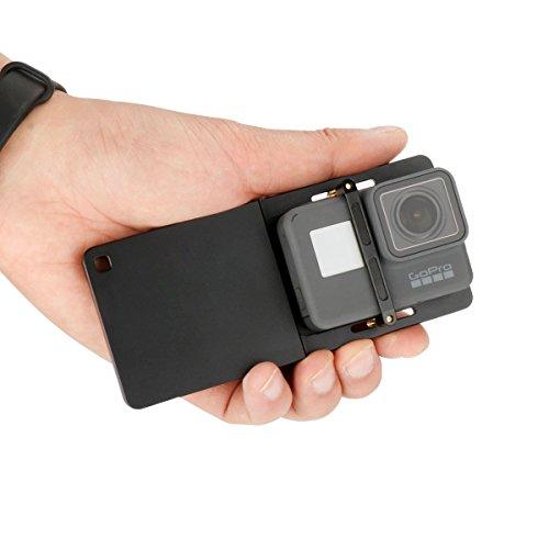 Ulanzi Action Camera Adapter Aluminum Alloy Switch Mount Plate Solid Handheld Gimbal Adapter Mounnt for GoPro Hero 6/5/4/3+, YI, DJI OSMO Mobile 2/Zhiyun Smooth Q by ULANZI
