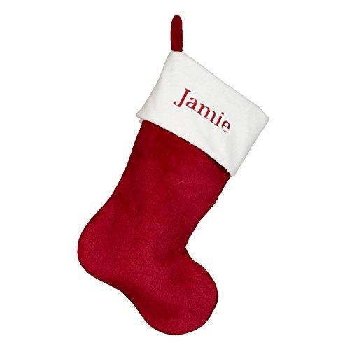 Red Velvet Christmas Stocking - Red - 19