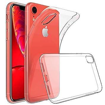 GeeRic Funda para iPhone XR, [Crystal Clear] Gel de TPU de Silicona Slim Fit Diseño a Prueba de Golpes Suave y Flexible Parachoques Protector de la ...