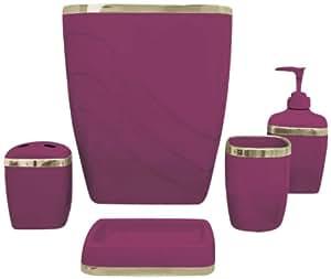 Clavel casa modas 5 piezas juego de accesorios de ba o de - Accesorios de bano amazon ...