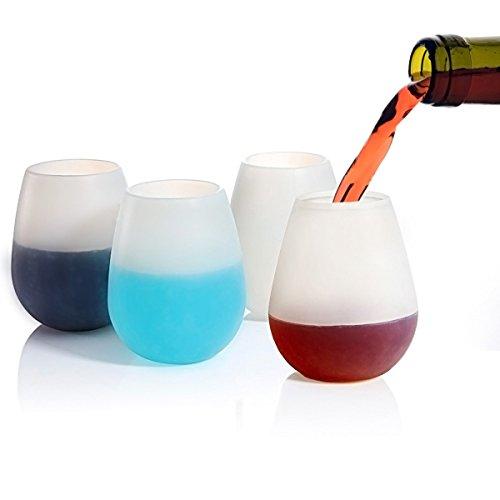 joyoldelf silicone wine glasses 12oz set of 4 food grade clear silicone dishwasher safe. Black Bedroom Furniture Sets. Home Design Ideas