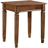 Ashley Furniture Signature Design - Hamlyn Corner Table - Rustic Finish - Medium Brown