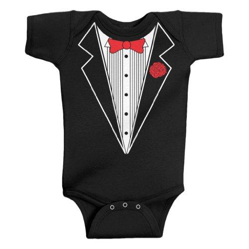 Threadrock Unisex Baby Tuxedo Bodysuit product image