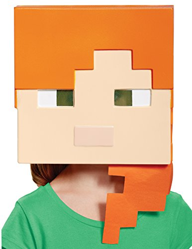 UHC Girl's Minecraft Alex Vacuform Mask Child Halloween Costume Accessory