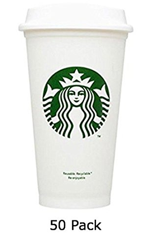 50 Starbucks Travel Coffee Cup Reusable Recyclable BPA Free