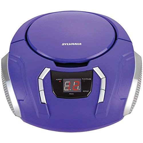 Sylvania Portable CD Boombox with AM/FM Radio (Purple)