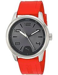 PUMA Quartz Stainless Steel and Polyurethane Watch, Black Dial (Model: PU104041004)