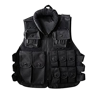 Pellor Outdoor Kids/Children Nylon Tactical Vest Security Guard Waistcoat CS Field Combat Training Protective Vest