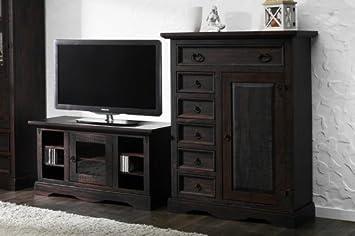 Tv Unterschrank Glory Pinie Massiv Holz Lowboard Tv Schrank