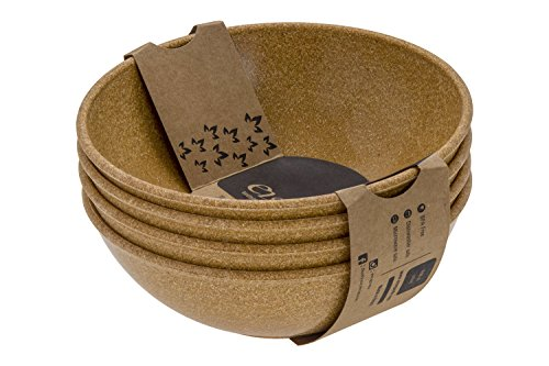 EVO Sustainable Goods 930 Dinnerware Bowl Set, 24 oz, Light Brown by EVO Sustainable Goods
