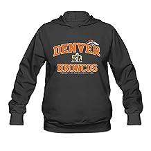 Women's Denver Broncos 2015 AFC Champions Super Bowl 50 Hoodie- Black