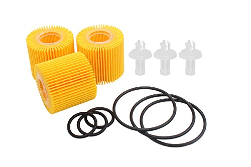 Element Seal (NewYall Pack of 2 04152-YZZA6 Engine Oil Filter Element w/Gasket Seal O-ring Set for 1.8L Engine Only)