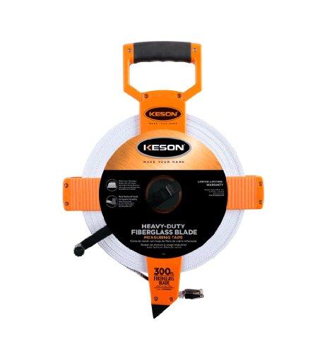 Keson OTR18300 Open Reel Fiberglass Tape Measure Reel (Graduations: ft., in. 1/8), 300-Foot