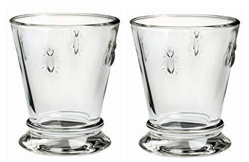 (La Rochere Set of 2 Bee Glass Shot Schnapps, 60ml / 2 floz | French Heritage Glasses)