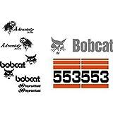 Bobcat 553 Excavator Whole Machine Decal Set Advantage Series & Ingersoll - Rand