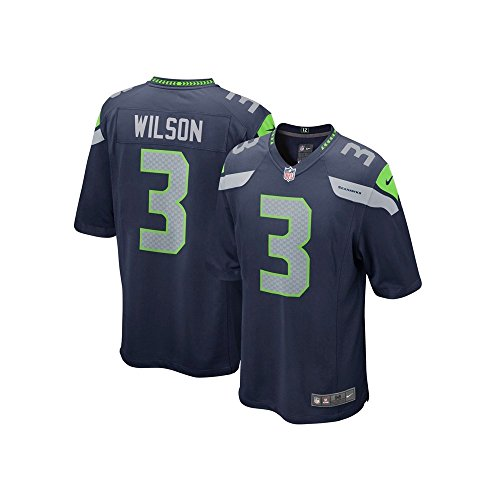 Seattle Seahawks Jersey (The Nike Seattle Seahawks Russell Wilson NFL Game Team Jersey College Navy Size)