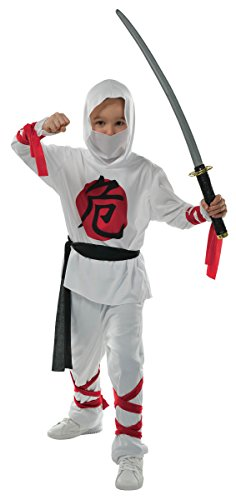 [Children's Warrior Ninja Costume Size Medium (8-10)] (White Ninja Costumes For Kids)