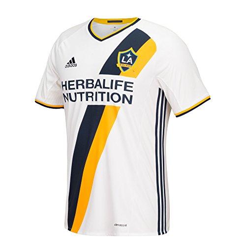 MLS LA Galaxy Men's Replica Short Sleeve Team Jersey, White, Large