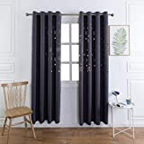 dark grey curtains sale Mangata Casa Bedroom Blackout Curtains Grommet Thermal Panel for Kids,Cutout Airplane Window Curtain Darkening Drapes for Nursery Room(Dark Grey-Plane,52x84inch,2 Panels) Darkening Drap.