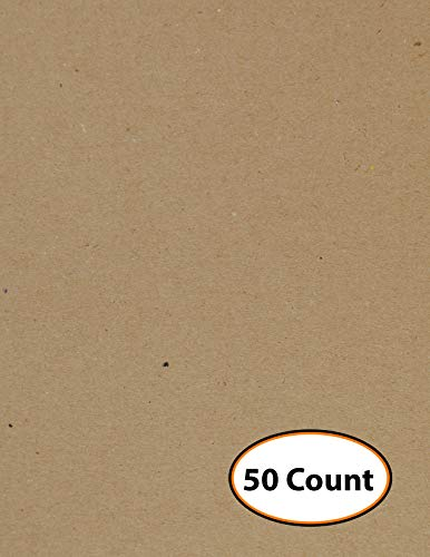 Chipboard Sheets. Kraft Brown. Great for Creative Projects and Protecting Valuable Photos and documents. (9'' x 12'' Sheets) (50 Sheets) by Studio 12