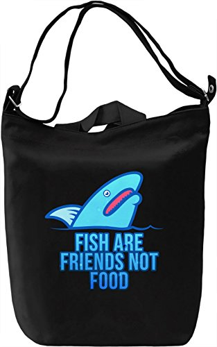 VDW Shark Borsa Giornaliera Canvas Canvas Day Bag| 100% Premium Cotton Canvas| DTG Printing|