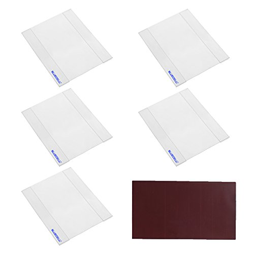 BCP 5 PCS Acrylic Sign Holder with Adhesive Tape for Office Store Restaurant (4 x 6