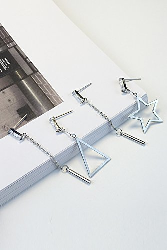 Generic Korean_ fashion _is_not_symmetrical_five-point_star_deco_ earrings Earring eardrop women girl _long,_wild ear fall_into earrings _of jewelry _ Deco Point