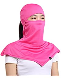 Balaclava for Women- Windproof and Dust Moisture Wicking Women's Full Face Mask Longer Elastic Breathable Neck...
