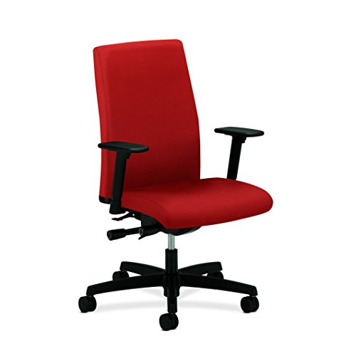 HON Ignition Series Mid-Back Work Chair - Upholstered Computer Chair for Office Desk, Poppy (HIWM3)