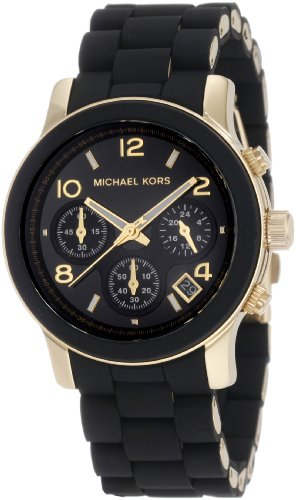 Michael Kors Womens MK5191 Runway Black Watch