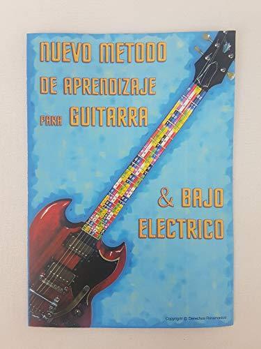 Tabla de pegatinas de colores para diapasón de guitarra, con código de color para servir de guía para principiantes con la guitarra.