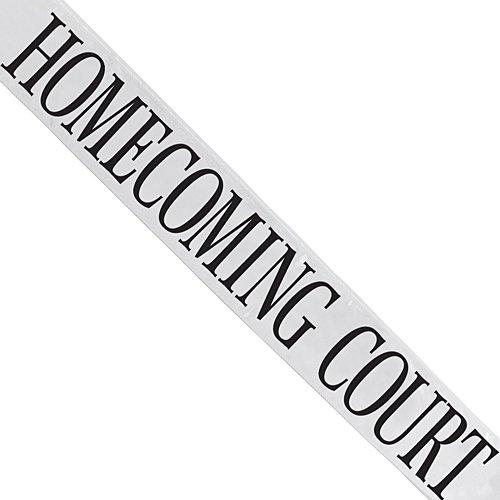White Satin Homecoming Court Sash -