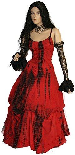 38 Schwarz DreamsGothic 40 kl Kleid 36 Rot Victorian Farbe Dark Gerafft Steampunk Lila Rebekka Rot Schwarz nBTfZTw0x