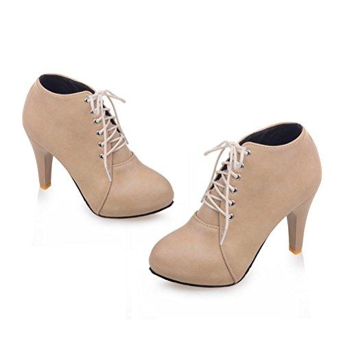 talons d'hiver chaussures pour chaussures Bottes Agodor talons hauts d'hiver à beige à femmes hauts n61q0