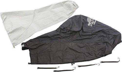 (Sno-Skinz Black Snowmobile Undercover Custom Fit Cover Extends to Rear of Seat for Polaris 2005-2011 10 RMK, Switchback, and Assult Models 363-LT BLK/BLK)