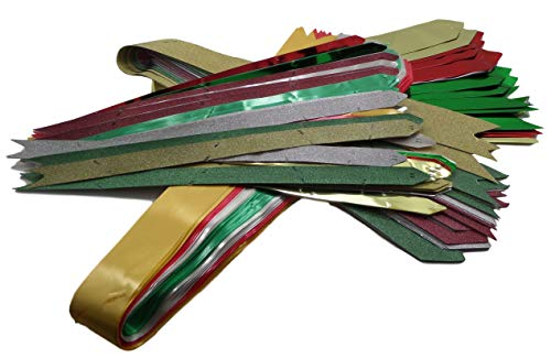 Bulk Buy: 75 Large and Small Satin, Gloss, and Glitter Gift Wrapping Pull Through Bows - 3/4