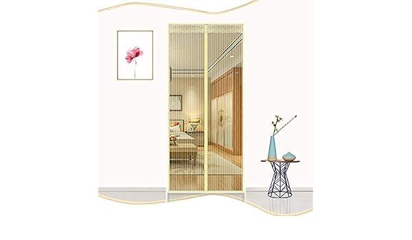 DYR Cortina de Malla magnética Cortinas de Pasta mágica Mampara magnética para Puertas de Insectos Súper silencioso Anti Mosquito-Golden 90x240cm (35x94inch): Amazon.es: Hogar