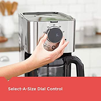 Black+Decker CM4202S Select-A-Size Easy Dial Programmable Coffeemaker, Stainless Steel, Extra Large 80 ounce Capacity