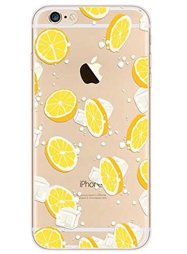new concept 92305 b6316 iPhone 8 Case/iPhone 7 Case(4.7inch),Blingy's Creative Fruit Style  Transparent Clear Flexible Soft TPU Protective Case for iPhone 8/iPhone 7  ...