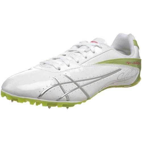 ASICS Women's Hyper-Rocketgirl SP 4 Track And Field Shoe,White/Lightning/Kiwi,11 M by ASICS