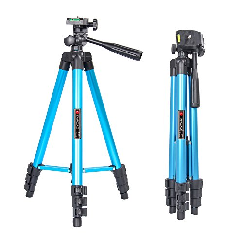 Tairoad 50 Inch Portable Light Weight Compact Traveller Tripod for Fishing Light, Projector, Security Camera, Tiny Camera Telescope with Carrying bag(blue) by TAIROAD
